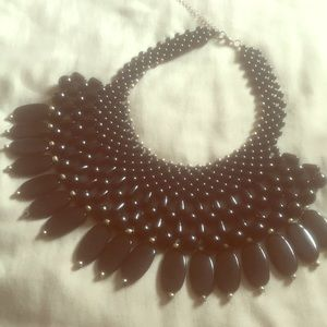 Jewelry - rose golf and black necklace